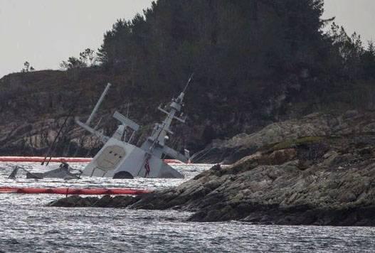 В ВМС Норвегии рассказали, как будут поднимать затопленный фрегат