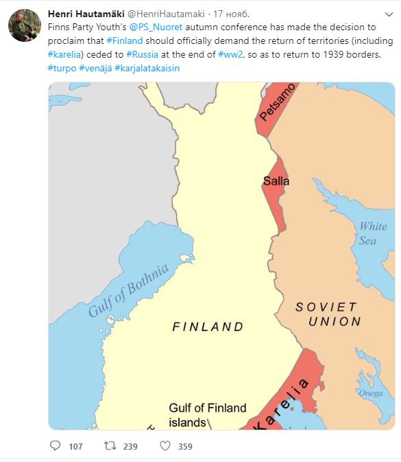 Финляндия может потребовать от России возвращения