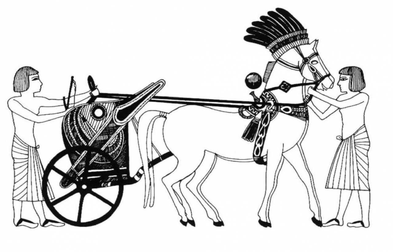 Колесница египтянина картинка общем