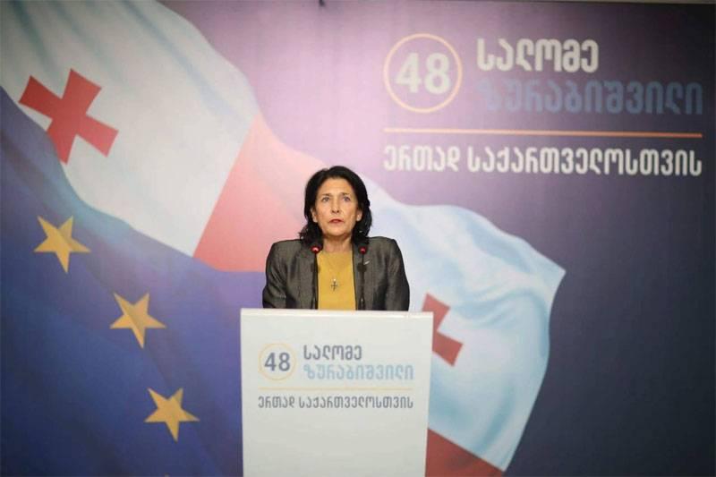 Избранный президент Грузии нарушила слово и заявила об отказе от диалога с РФ