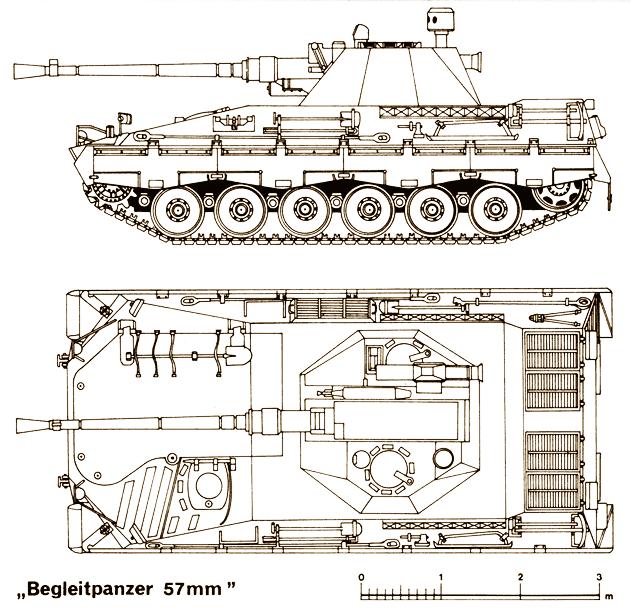 बीगलपैनजर 57। बुंडेसवेहर पैदल सेना लड़ाई वाहन का समर्थन करती है