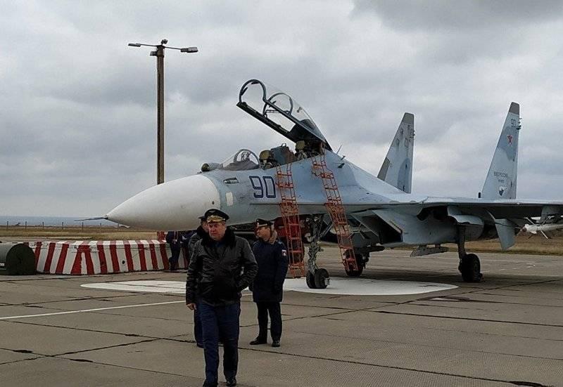 """러시아 전투기는 크림 공항 """"Belbek""""로 돌아갑니다."""