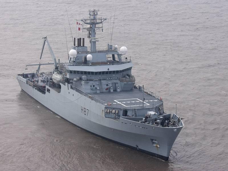 Un navire de reconnaissance britannique a quitté le port d'Odessa