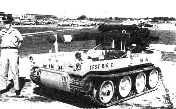 XM104 स्व-चालित तोपखाने (यूएसए)
