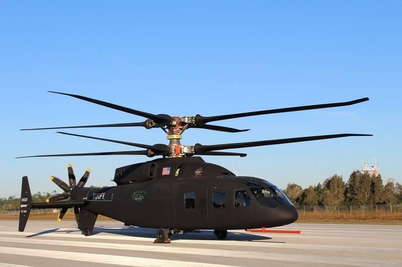 En los Estados Unidos, mostró un prototipo de un nuevo helicóptero de alta velocidad SB 1 Defiant.