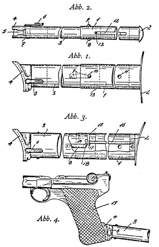 Tope de pistola Gomann-Grunow (Alemania)