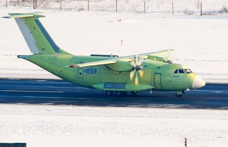La primera muestra de IL-112V se lanzó en rodaje de prueba
