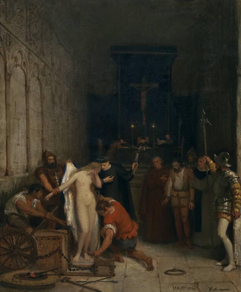 Виктор Монсано-и-Мехорада. Сцена инквизиции