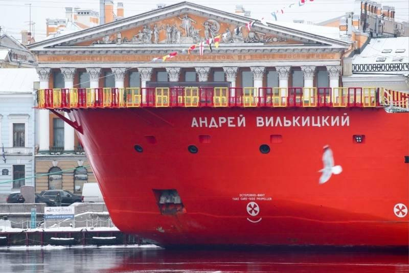 «Андрей Вилькицкий» - новейший ледокол величиной с семиэтажное здание