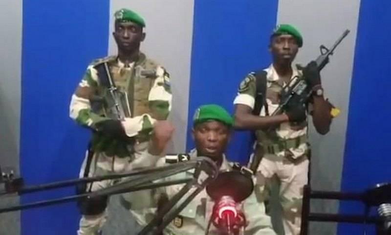 아프리카 가봉에서 군 집단이 쿠데타 발표