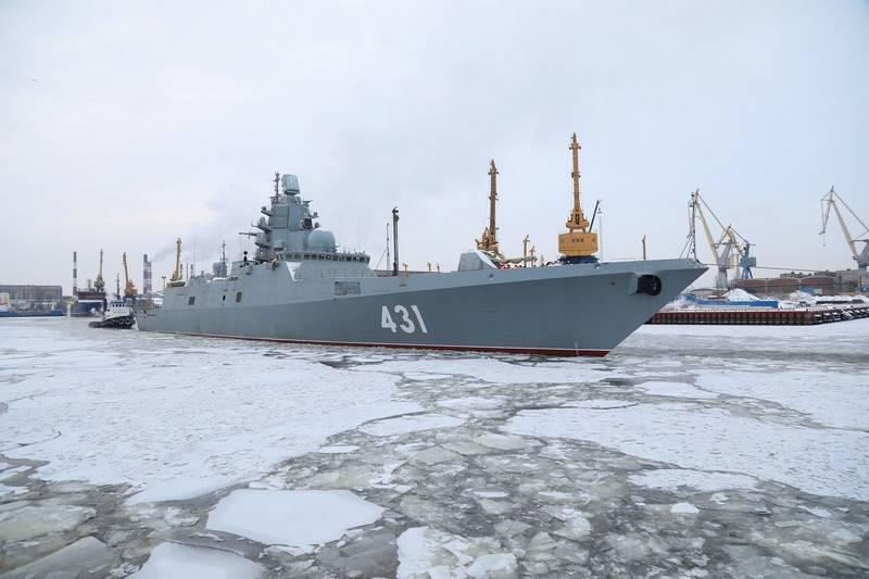 """La frégate """"Amiral de la flotte des Kasatons"""" a terminé la première étape des essais en mer"""
