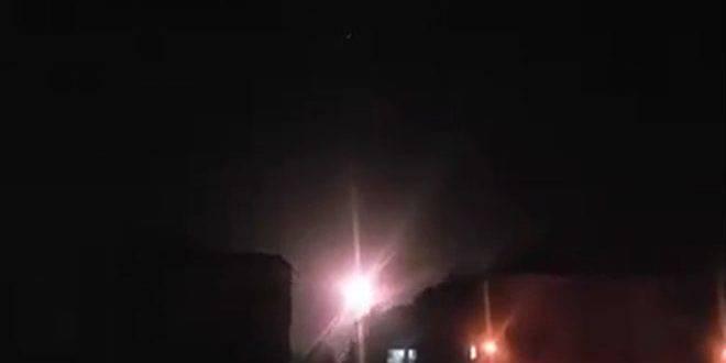 La Fuerza Aérea israelí golpeó el primero en el próximo año, un golpe al territorio de Siria
