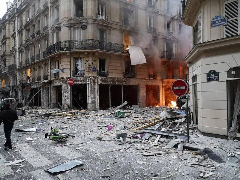 Nel centro della capitale francese esplose una potente esplosione