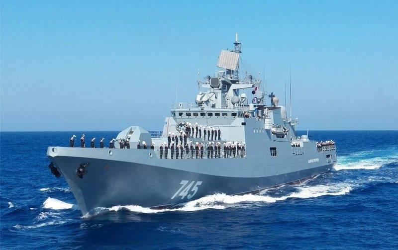 """La fregata """"Ammiraglio Grigorovich"""" si alza per le riparazioni programmate"""