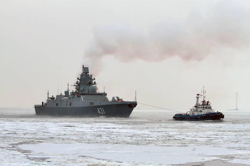 """최신 호위함 """"Kasatonov Admiral""""이 계류 테스트를 계속합니다."""