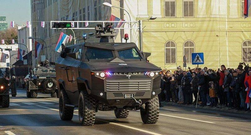 """세르비아 인들은 처음으로 국내 장갑차 """"Despot"""""""