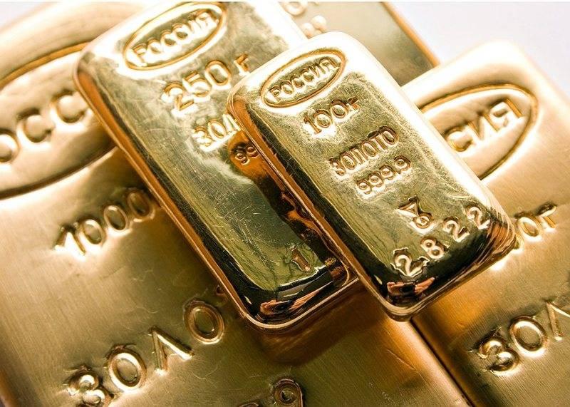 La Russia è al quinto posto nella classifica mondiale delle riserve auree