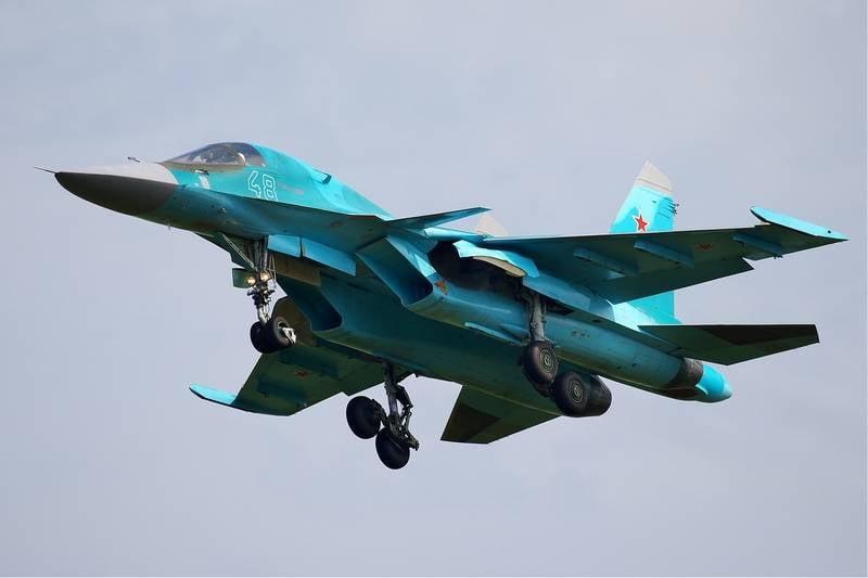 タタール海峡で発見されたSu-34パイロットの機体