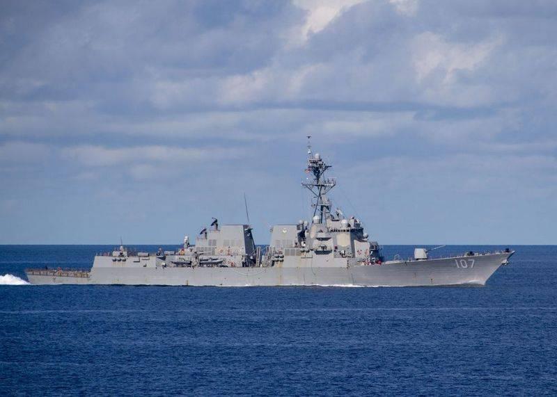 Les destroyers américains entrant dans la mer Baltique sont contrôlés par des corvettes de la Fédération de Russie