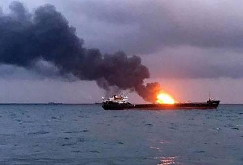 La cause probable de l'incendie de pétroliers près du détroit de Kertch est nommée