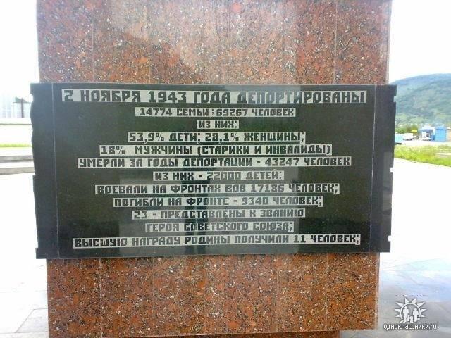 Secrets de déportations. Partie de 2. Karachay