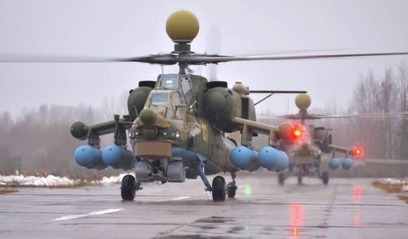새로운 헬리콥터 Mi-35M과 Mi-28UB의 배치는 South Military District