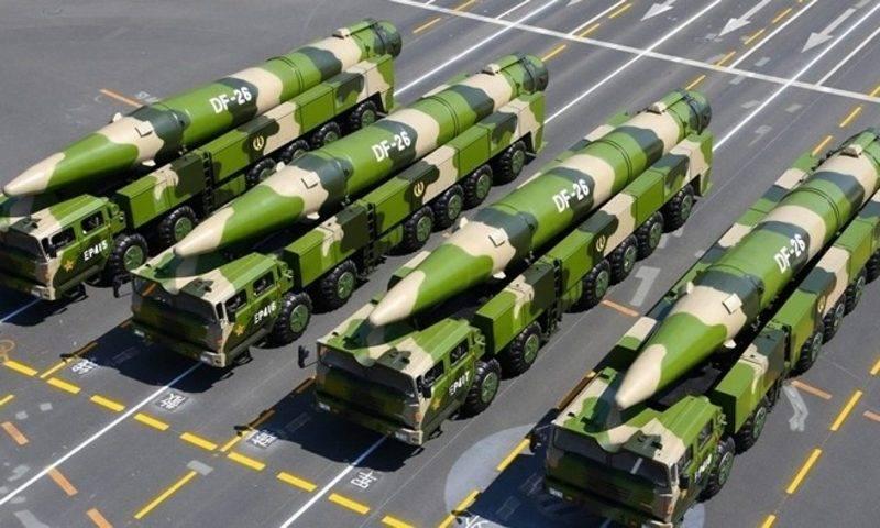 La Cina ha condotto test di un missile balistico a medio raggio DF-26