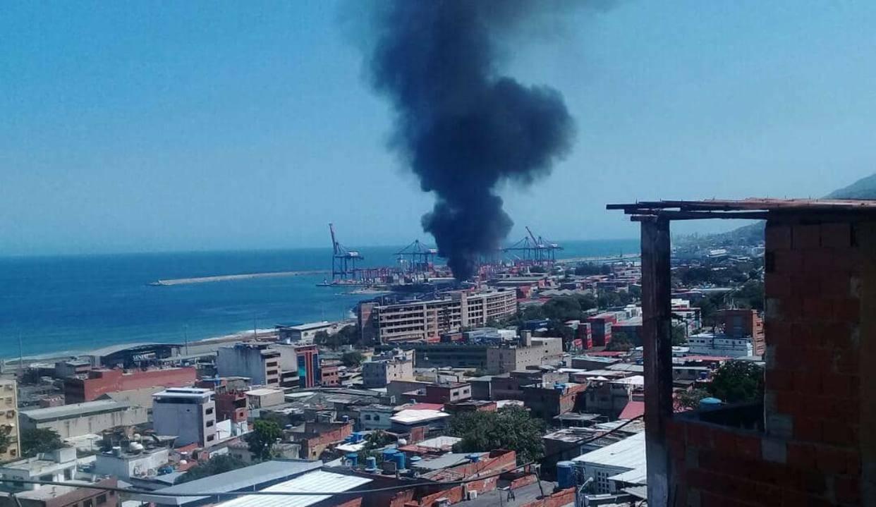 Водном изпортов Венесуэлы произошел взрыв