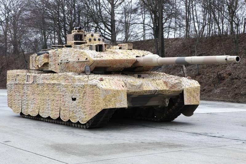 """Sistema israelí de defensa activa Trofeo """"prueba"""" el leopardo alemán 2"""
