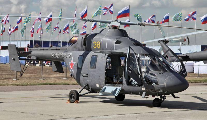 軍用航空には医療用ヘリコプター「Ansat」が補給されます