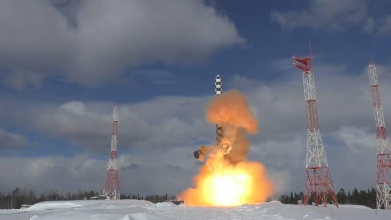 """El ICBM ruso """"Sarmat"""" mostrará a los Estados Unidos justo antes del despliegue"""
