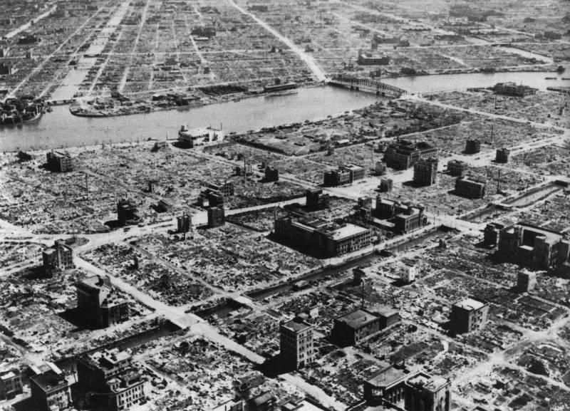 Risultati del raid su Tokyo a marzo 1945 dell'anno