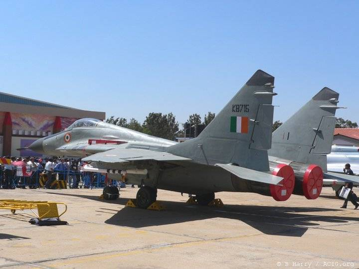 Indian Air Force pensa di aggiornare MiG-29 al russo BARK-88