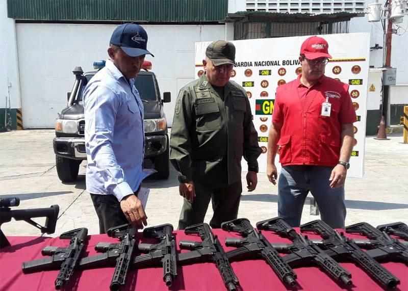 Une cargaison d'armes des États-Unis a été apportée au Venezuela: qui est le destinataire?