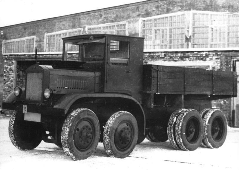 Грузовик ЯГ-12. Двенадцать тонн на восьми колёсах