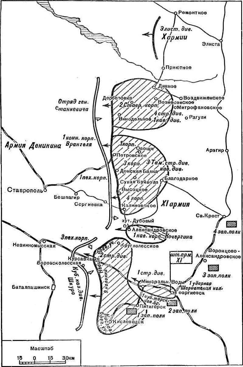 北コーカサスのための戦い。 CH 2 12月の戦い