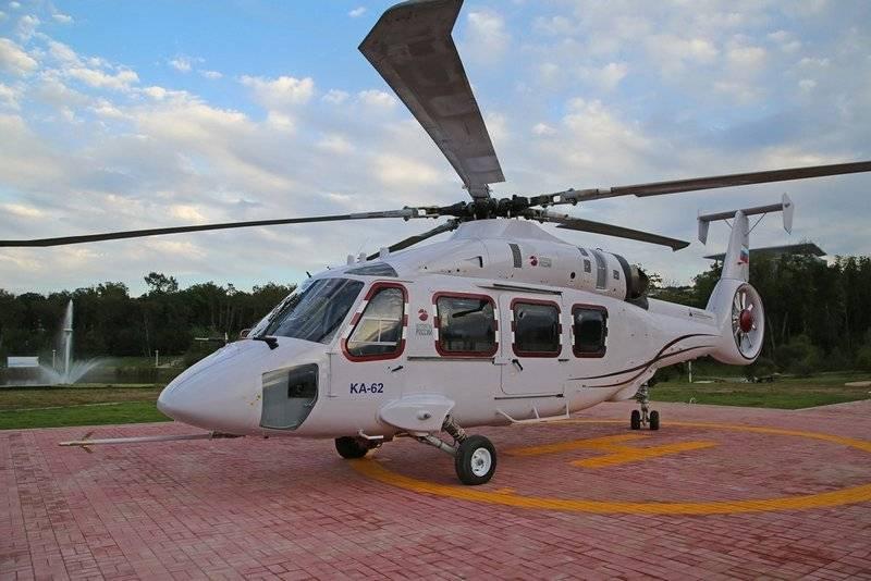 L'elicottero multiuso Ka-62 riceverà un nuovo complesso di comunicazioni
