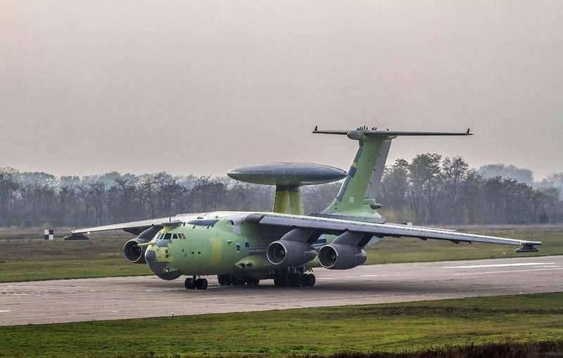 Новейший самолёт ДРЛОиУ А-100 совершил очередной полёт в рамках испытаний