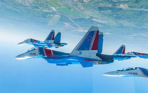 """Nuevo espectáculo de acrobacias aéreas """"Caballeros rusos"""""""