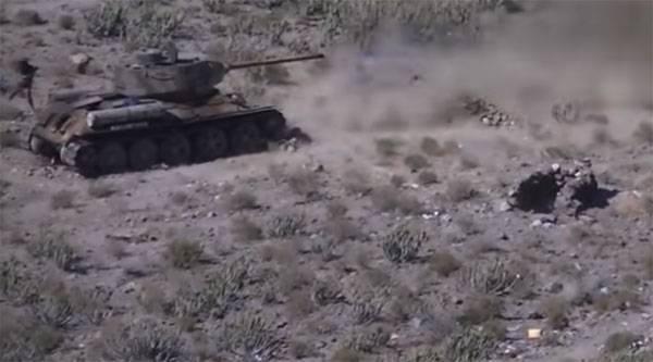 Hussites는 예멘에서 T-34에 대해 ATGM을 사용했습니다.