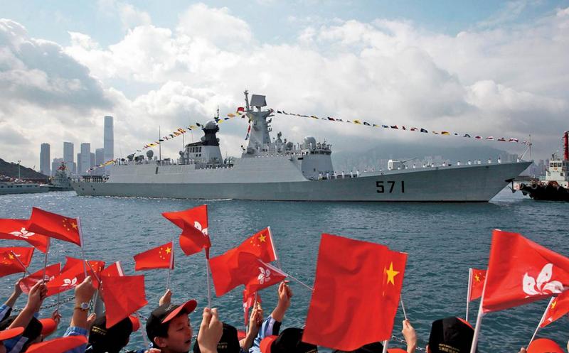 चीनी नौसेना ने युद्धपोतों के कुल टन भार में विश्व में दूसरा स्थान प्राप्त किया