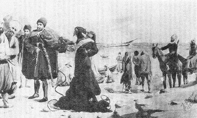 काकेशस के काला सागर तट पर दास व्यापार का विषम और सूर्यास्त 1 का हिस्सा