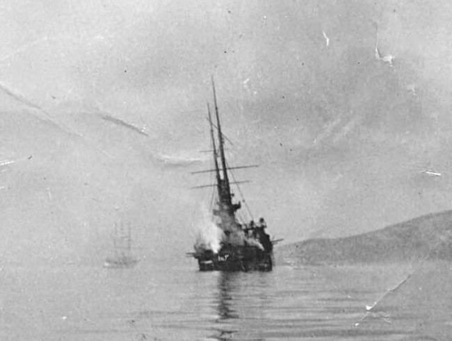 """Éclairages blindés. Le croiseur II est classé """"Novik"""". Dernier combat"""