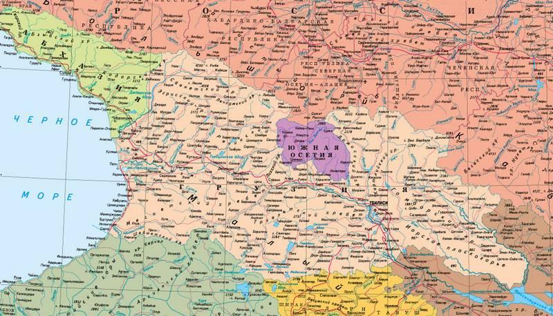 La Georgia introduce una punizione penale per le carte senza Abkhazia e Ossezia del Sud
