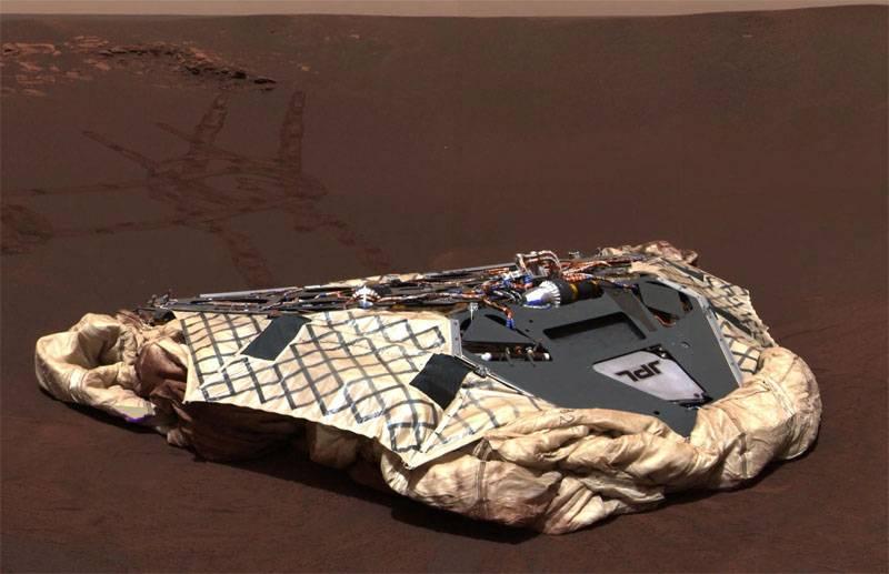Al término de la misión marciana Oportunidad: el aparato destruyó la tormenta de arena