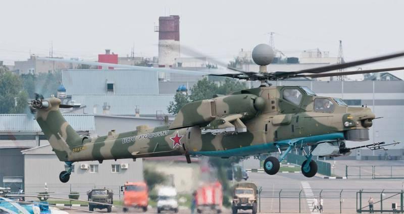 """지적 BURK는 Mi-28의 승무원을 무기 사용의 관점에서 """"내린다""""."""