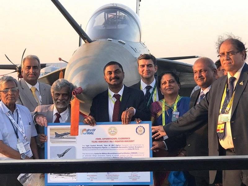 Combatiente indio Tejas adoptado por la Fuerza Aérea del país.