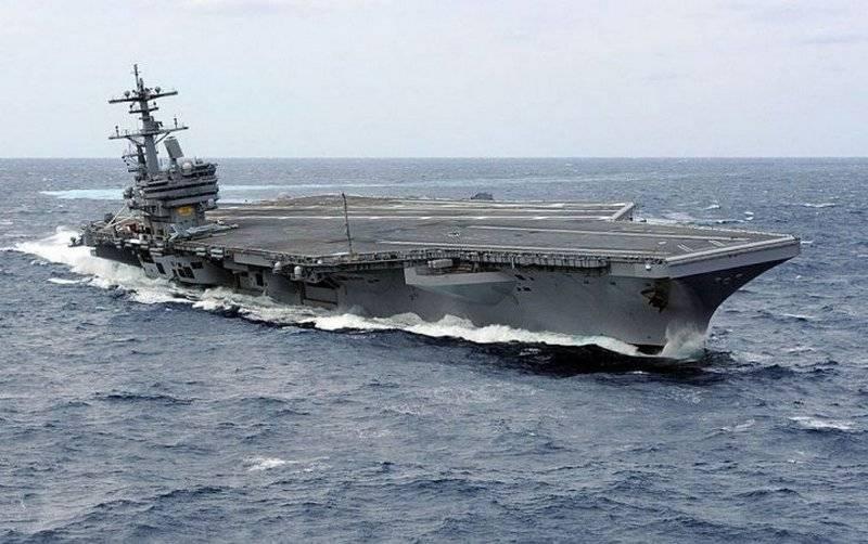 미 해군 항공 모함 조지 HW 부시 CVN-77, 2,5 년 추락