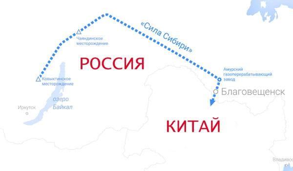 """Поставки газа в Китай по """"Силе Сибири"""" начнутся 1 декабря 2019"""