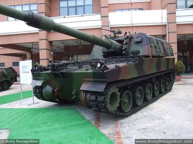 Самоходная артиллерийская установка T-155 Fırtına (Турция)